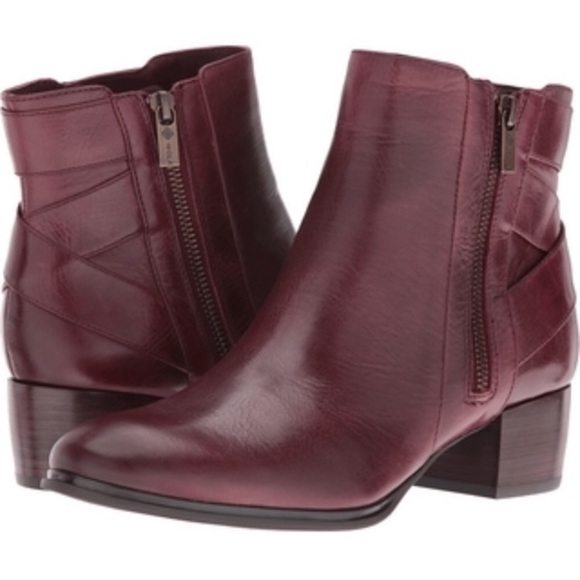 bbfb6cb60 Isola Shoes | Nwot Burgundy Leather Booties Flawed | Poshmark